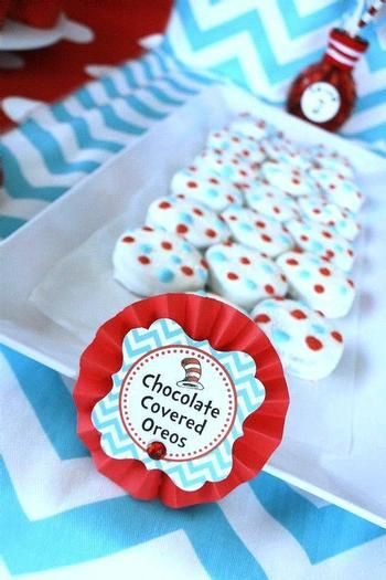 Dr. Seuss Thing 1 and Thing 2 Birthday Party/ Hostess with the Mostess®