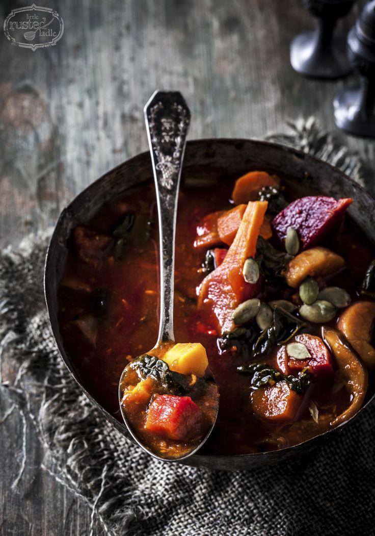 Healthy Detox Vegetable Soup | www.littlerustedladle.com