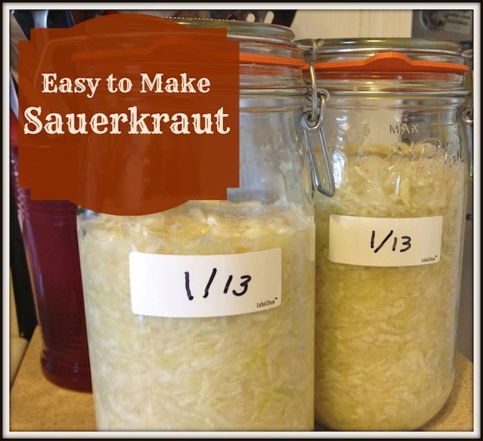 Easy to Make Sauerkraut - Granny's Vital  Vittles
