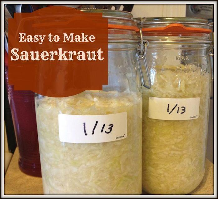 Homemade Sauerkraut http://grannysvitalvittles.com/easy-to-make-sauerkraut/