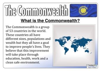 The Commonwealth Posters - Our free set of Commonwealth posters includes 12 pages of information about the Commonwealth. The information uses child-friendly language and appropriate images, so they are perfect for use in the classroom.