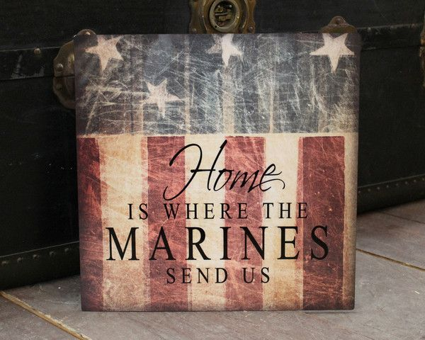 Marines military sign, marines home decor, marines patriotic decor