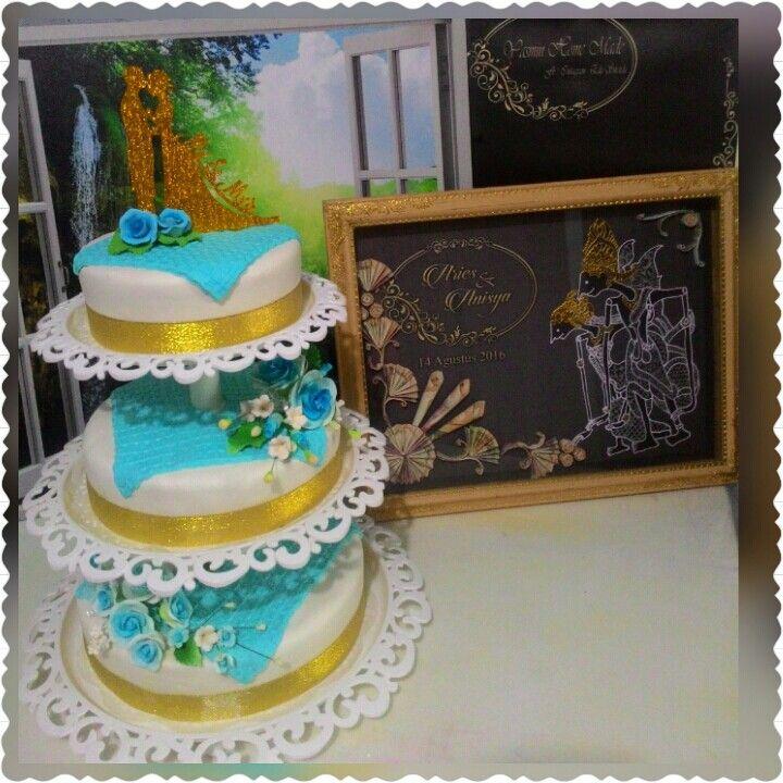 Cake wedding + mahar pernikahan Kharisma syahputra & Ayuannisa