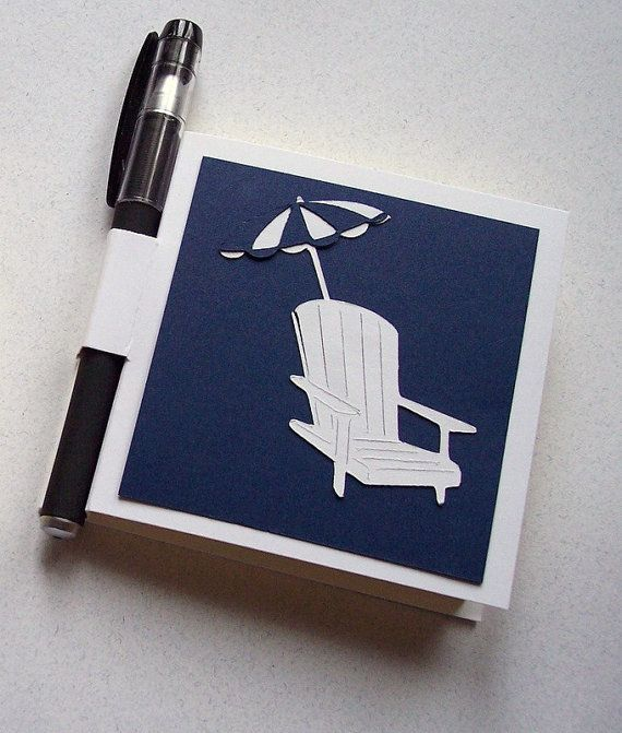 Beach Chair And Umbrella Post It Note Holder With Gel By Schu0808