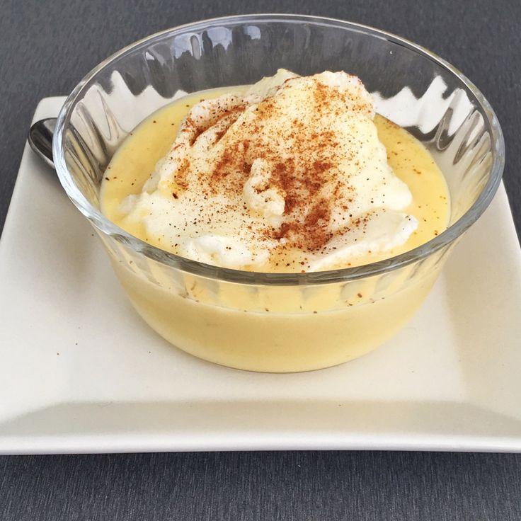 Postres saludables: Receta de la tradicional leche Nevada pero en su versión saludable sin azúcar endulzada con Tagatosa.