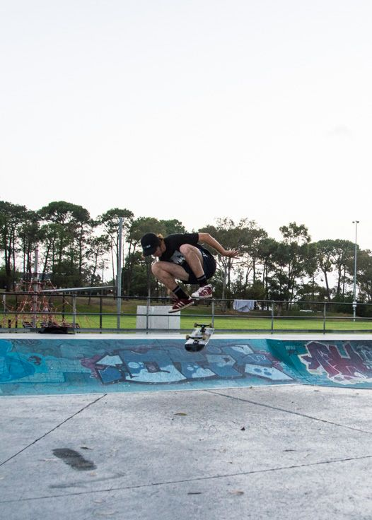 L3M2AP1 ISO640 18.. f3.5 1/500th sec Nikon D7100 Proof I know how to increase ISO! Haha  this is cropped in from a wider shot, I'd like to try again sometime but be closer and lower to capture the skater with less business behind. I did use the patch tool in Ps to remove some distracting branches from the top left though!