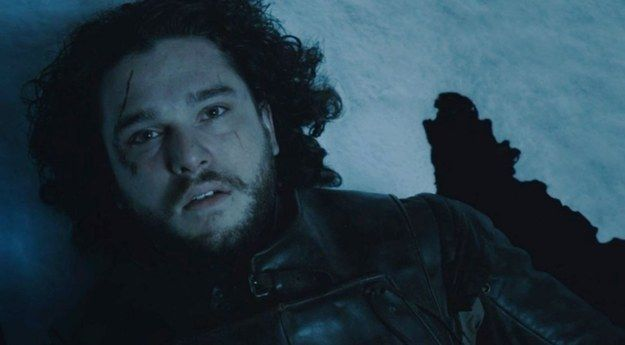 Jon Snow ~ Game of Thrones - Jon may be 'almost' dead but Melisandre is there and can bring back the dead. He must not be dead!
