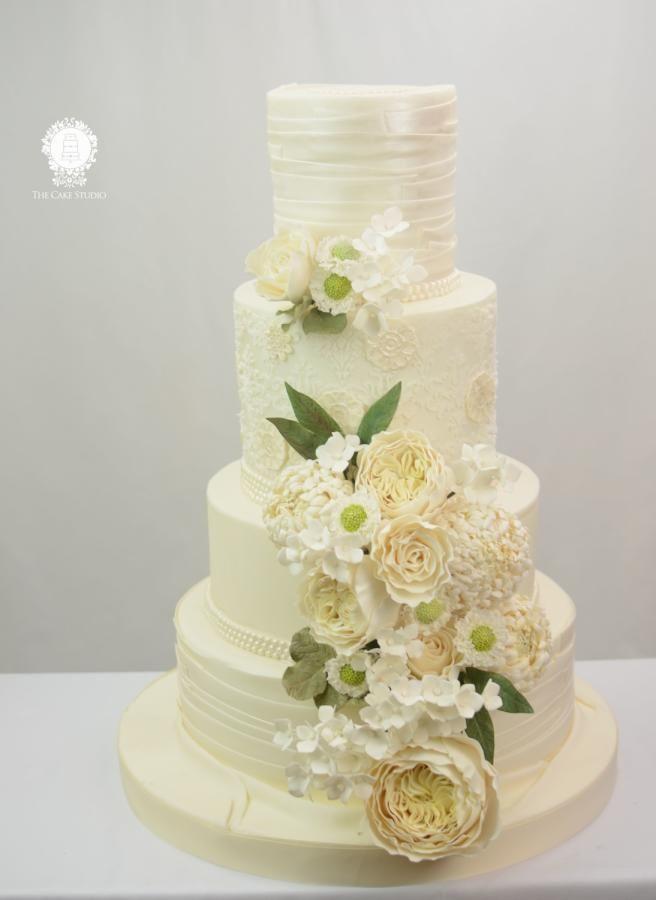 White Wedding Cake by Sugarpixy - http://cakesdecor.com/cakes/276494-white-wedding-cake