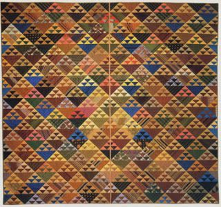 Civil War Quilts, Birds in the Air quilt attributed to years 1830-1860, made by Deborah Coates, Pennsylvania.
