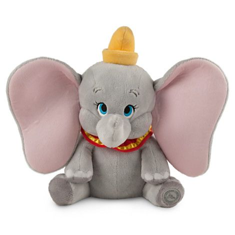 "At 14 inches tall, that's a whole lot of Dumbo to hug and cuddle and squeeze! DUMBO PLUSH SOFT TOY DOLL (from Walt Disney's ""Dumbo"")"