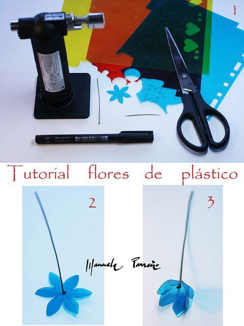 plastic flowers tutorial