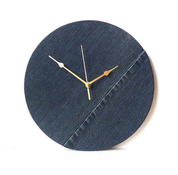 Orologio per la tessuto Jeans di denim parete orologio