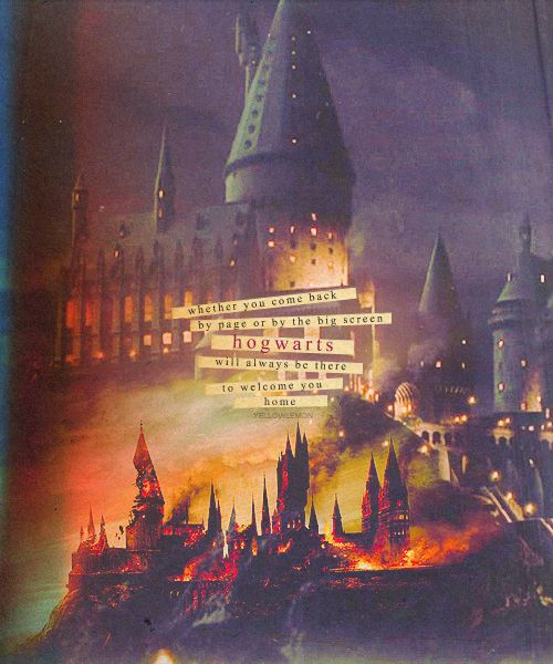Whether you come back by page, or by the big screen, Hogwarts will always be there to welcome you home.