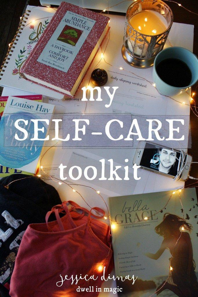 Alles, was ich in meinem Self-Care-Toolkit aufbewahre, um mich auszurichten, neu zu zentrieren, zu entspannen und …   – Health