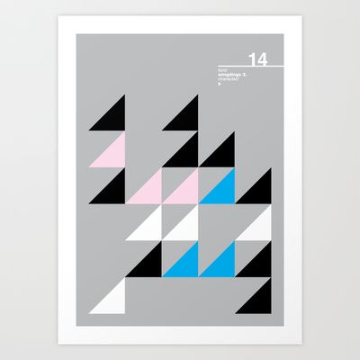 14_Wingdings_y Art Print by Iris & Floss - $18.00