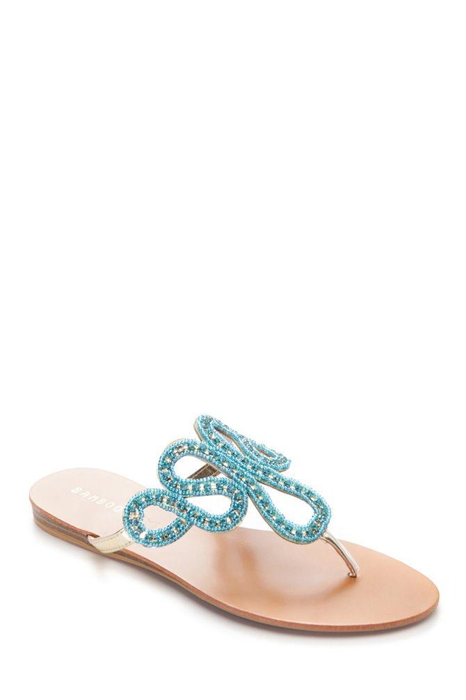 Embellished Beaded Sandals @ Cicihot Sandals Shoes online store sale