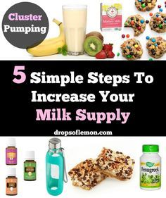 Here are 5 simple steps that worked really well for me to increase my milk supply. I had a freezer and deep freezer full of frozen milk after 6 months. I had so much that I was able to donate to other children and still feed my daughter until she was a year old. I stopped pumping when both kids were 6 months old. Brewers yeast, flaxseed, oats, fenugreek, essential oils, lactation cookies, cluster pumping, water, power pumping and mothers milk tea can all help increase your milk supply