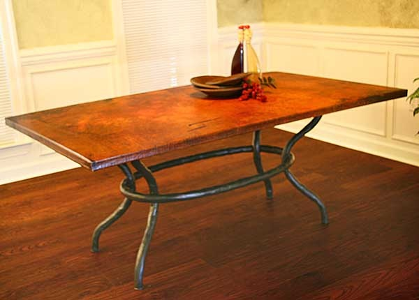 Copper Dining Room Table For The Home Pinterest