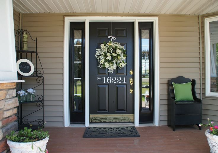 Black Front Door Color Intended For What Color Should I Paint My Front Door 2016 Front Door Colors Trends