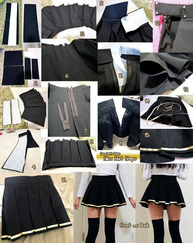 Box pleated schoolgirl skirt (tutorial)