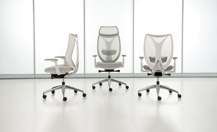 Chaise ergonomique à dossier filet Sabrina. Par Teknion