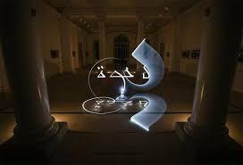 Escritura de letras árabes con luz