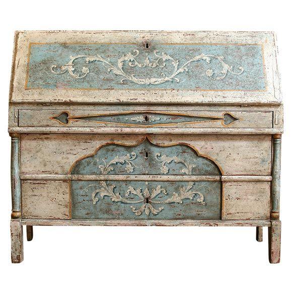 18th C. Venetian Ribalta Desk /Commode