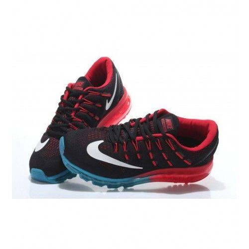 Nike Pánské - Horky Air Max 2016 Černá Červené Modrý Pánské Běžecké Boty