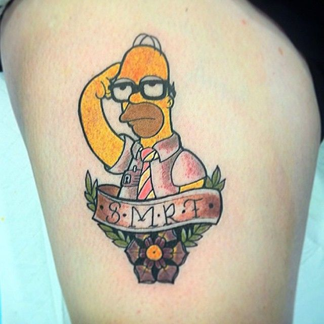 368 best artwork tattoos the simpsons images on for Homer simpson tattoos