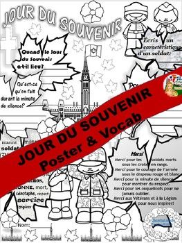 REMEMBRANCE DAY FRENCH POSTER & VOCAB (Jour du Souvenir)