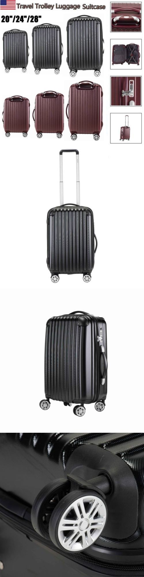 Vintage Luggage and Travel Accs 183477: 20 24 28 Hard Shell Luggage Spinner Suitcase Trolley Box Travel Case Cabin Us -> BUY IT NOW ONLY: $78 on eBay!
