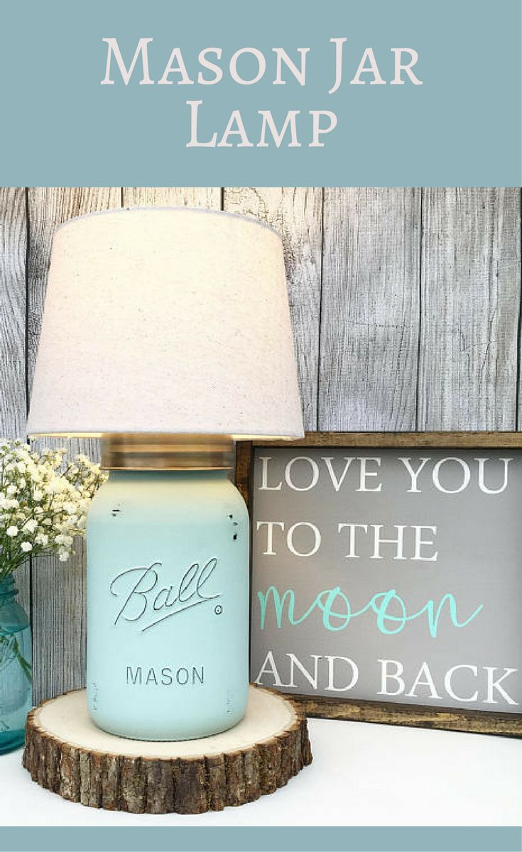Mason Jar Lamp, Seafoam, Lamp, Mason Jar, Farmhouse Lighting, Lamp, Home Decor, Home Lighting, Farmhouse decor, Country Home Decor, Rustic Lamp, Rustic decor #ad #FarmhouseLamp