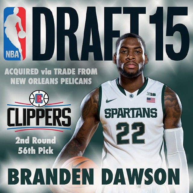 Congratulations to Branden Dawson. After leading the Michigan State Spartans basketball team to its 9th Final Four, Branden will be joining the Los Angeles Clippers next year. #SpartansWill