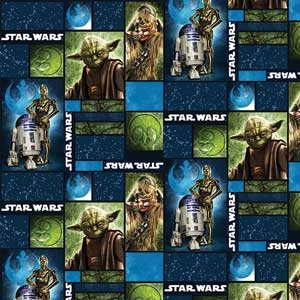 Block star wars quilt fabric crafts and hobbies for Star wars fabric
