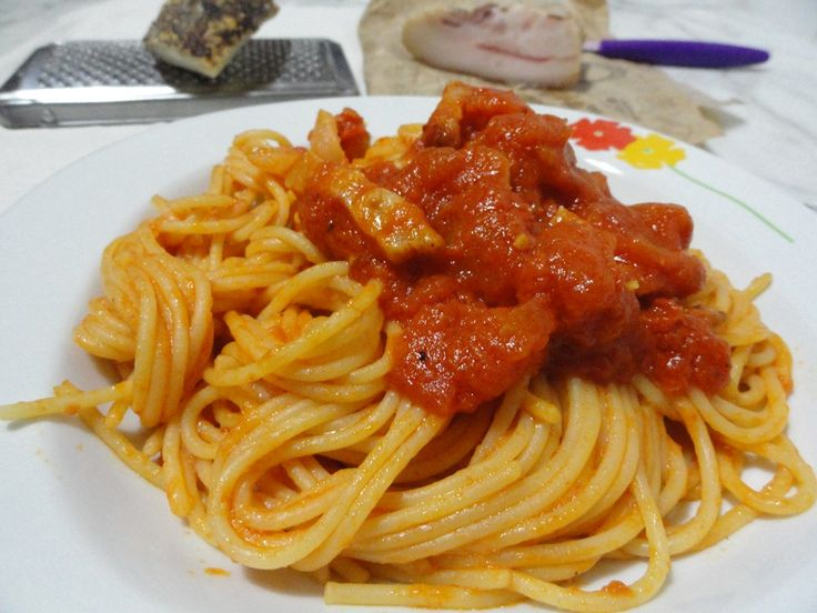 Spaghetti+all'+amatriciana