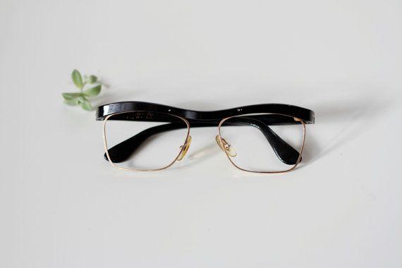 Occhiali da vista neri vintage anni 50/ Occhiali di UndiciVintage