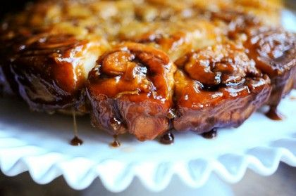 Caramel apple sticky buns. This is the easiest dough recipe I have ...