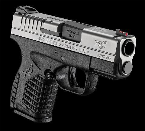 """Springfield XDS Slim 45 ACP PIstol 3.3"""" FS Bi-Tone"""