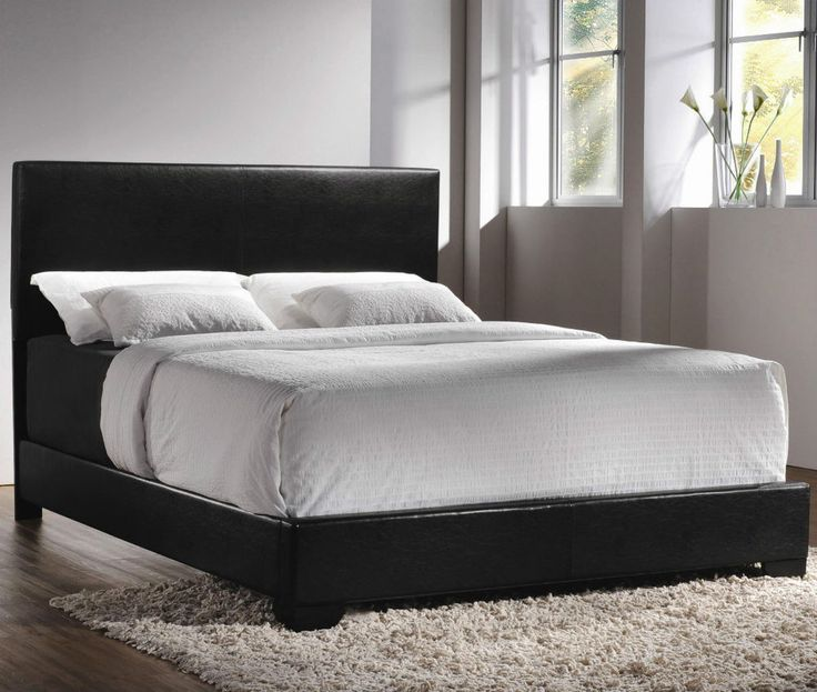 rosario queen platform bed in dark brown