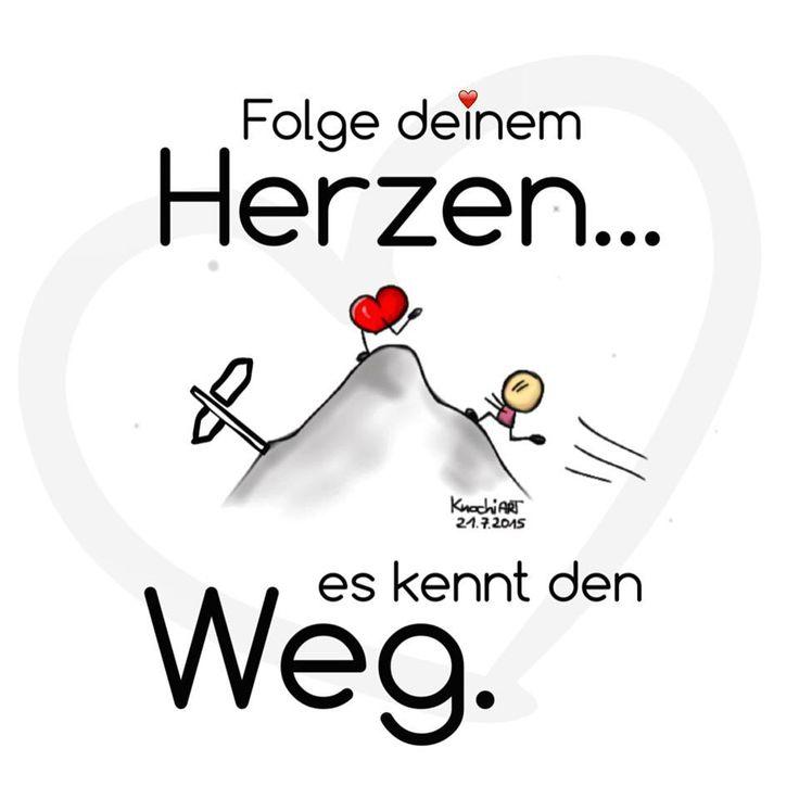 ➡️ #Folge deinem ❤️ #Herzen … es kennt den #Weg. #spruchdestages ✅ #minimal #pausenkritzelei #thinkpositive #folgedeinemherz 😘 ….ich wünsche meinen #Follower 'n nen schönen #Mittwoch ☀️🎈😎 #enjoyit ✌🏻️