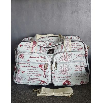 Cotton Road Red Windmill Nappy/Weekender Bag