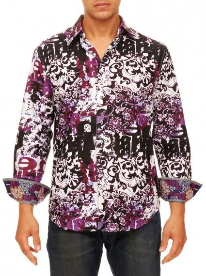 Robert graham big and tall mens clothing steve carl for Extra long shirts for tall men