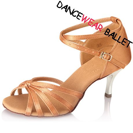 Elegant Five Strap Centre Node Fresh Satin Ballroom Latin Dance Shoes,     Style No: DB55023,  Material: Satin upper, suede outsole,  Color: Fres,h  Sizes: FR34-FR40,  We have more dance ballroom latin shoes modern shoes, other dancewear and dance shoes  at our website: http://www.dancewearballet.com