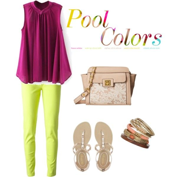 Color block! by catarina-teixeira-de-queiros on Polyvore featuring polyvore fashion style Kenzo NYLO Jessica Simpson Wallis