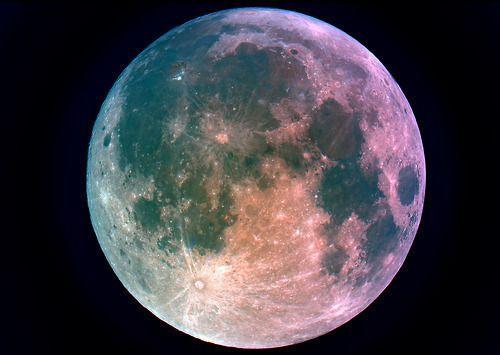 Imagen de moon, night, and galaxy