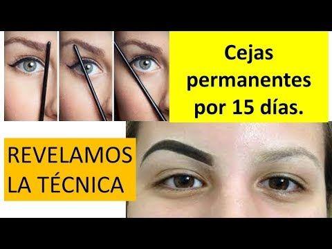 Revelamos técnica de maquillaje semipermanente de cejas, dura 15 días. - YouTube