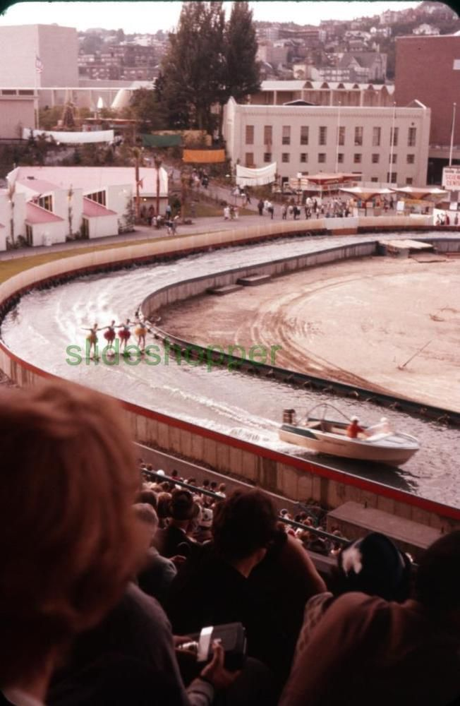 Slide Photo Expo 1962 Seattle World's Fair Water Skiing Performance LOT