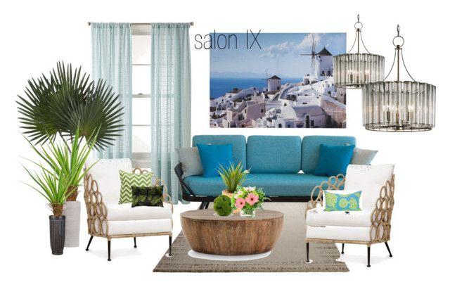 salon IX by a-filipczak on Polyvore featuring interior, interiors, interior design, dom, home decor, interior decorating, Ercol, Palecek, Arteriors and ESPRIT