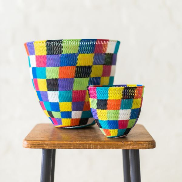 Safari Fusion | African Baskets & Bowls Gallery | Decorate with modern African bead and wire baskets & bowls
