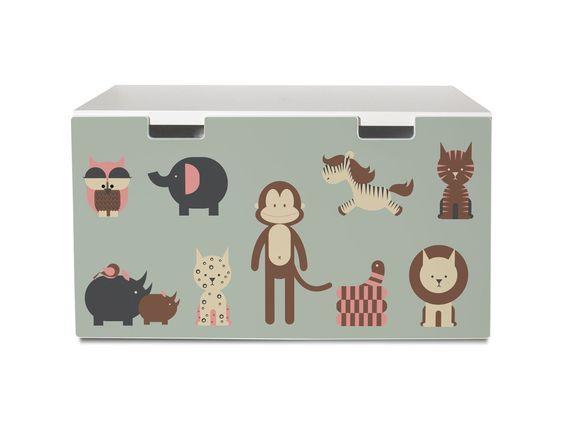 yourdea Sticker für Kinderzimmer IKEA Stuva Kommode mit